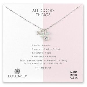 Dogeared all good things silver cluster necklace
